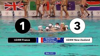 Game 206  NZL Vs FRA U24W ENGL SH  5th CMAS Underwater Hockey Age Group Worlds   Sheffield UK