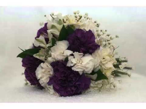 Purple And White Carnation Flower Combination Of Marvelous