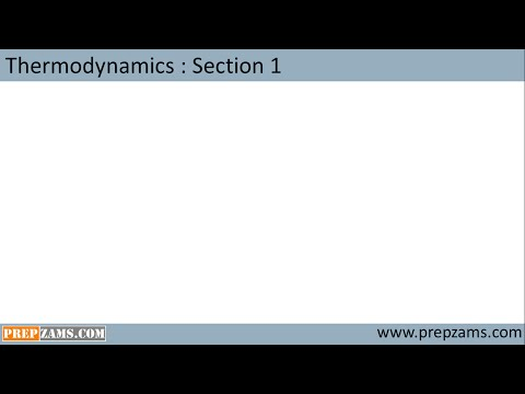 Chemical thermodynamics section 1: Introduction and concept of work