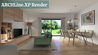 ARCHLine.XP - Living Room Rendering Tutorial &Workflow