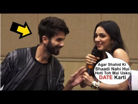 Kiara Advani FLIRTING With Shahid Kapoor OPENLY In Front Of Media At Kabir Singh Promotions