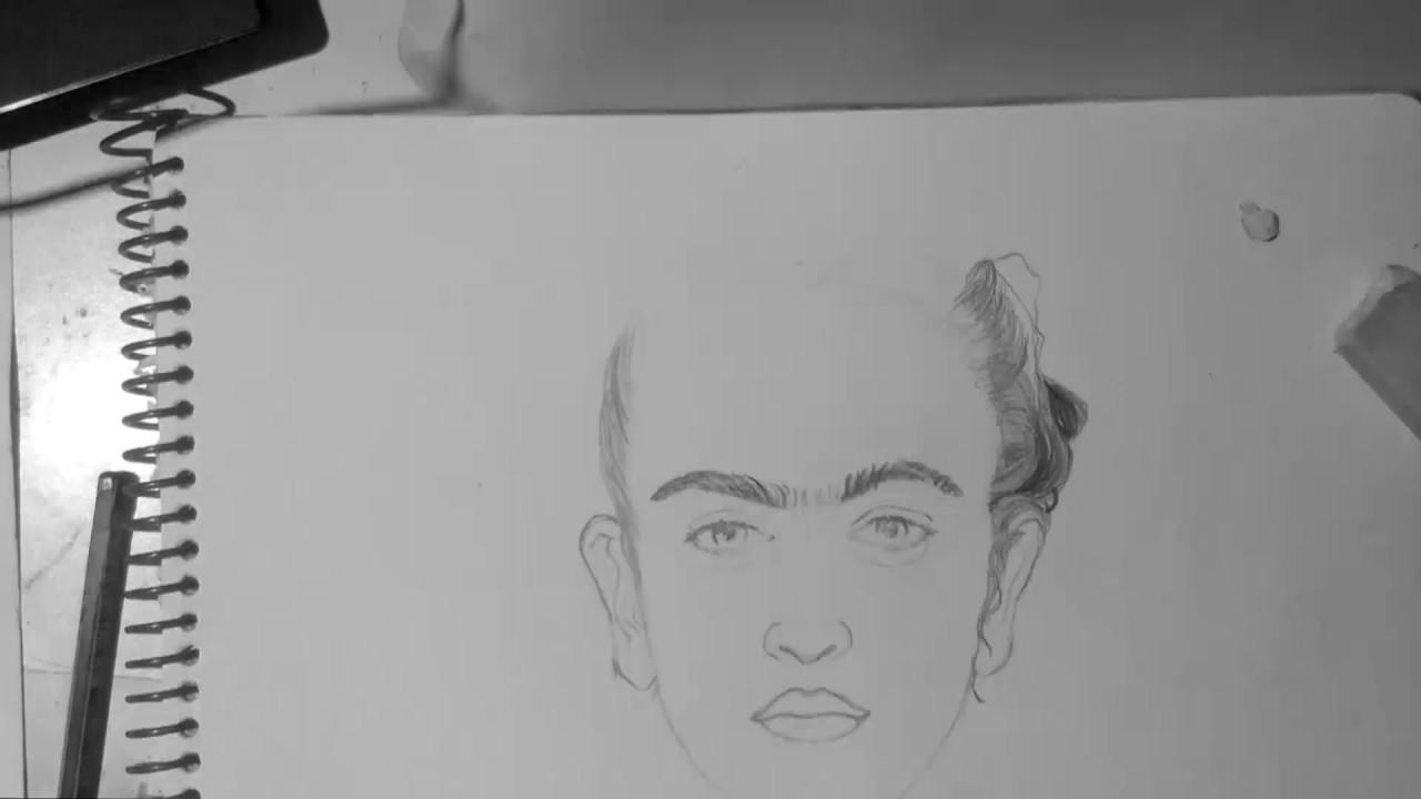 Como Dibujar A Frida Kahlo Lapiz