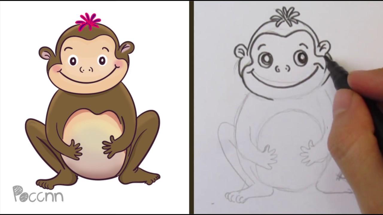 Cómo dibujar un Mono Small