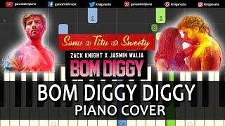 Bom Diggy Diggy Song Sonu Ke Titu Ki Sweety | Piano Cover Chords Instrumental By Ganesh Kini