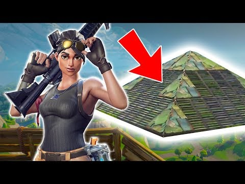WORLD'S BEST PYRAMID!! (Fortnite Battle Royale)