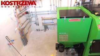 KOSTRZEWA отопление частного дома Pellets Fuzzy Logic 2 новая котельная