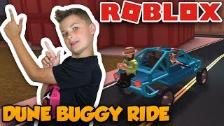 COOL DUDE TOOK US FOR A RIDE WITH DUNE BUGGY in ROBLOX JAILBREAK ! ROBBING BANK MULTIPLE TIMES