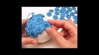 Как сделать украшение цветочные шары