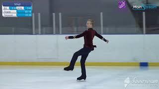 Матвей Ветлугин Произвольная программа Кубок Москвы по фигурному катанию на коньках 2020г