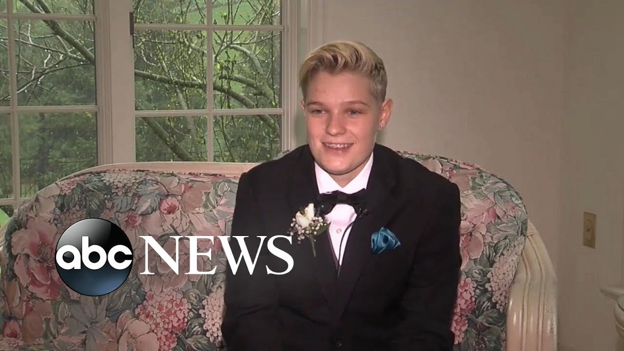 Tuxedo-Wearing Girl Says She Was Banned From School Prom - YouTube