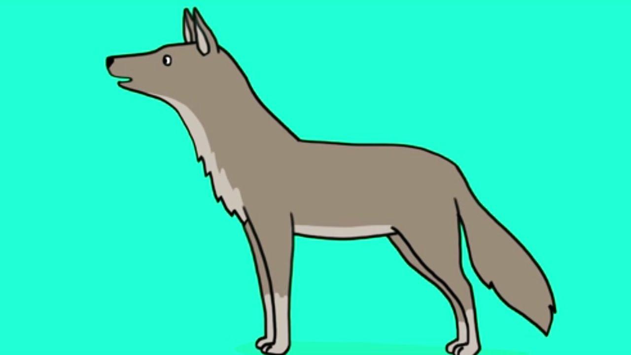Apprendre dessiner un loup youtube - Dessiner un loup facilement maternelle ...