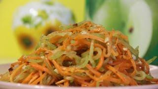 Морковча с зеленой редькой