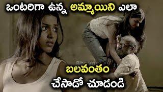 ఒంటరిగా ఉన్న అమ్మాయిని ఎలా బలవంతం చేసాడో చూడండి - Latest Telugu Movie Scenes - Sai Dhansika