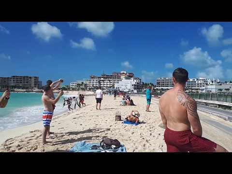 jet blue sunset beach bar Maho 10th Feb 2018 after hurricane Irma St Martin
