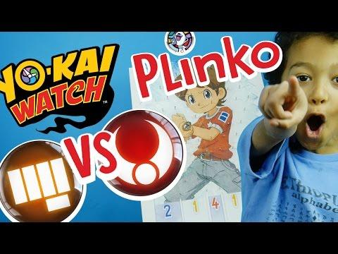 Yo-Kai Watch PLINKO Game 3 TOUGH VS BRAVE YoKai Medallium Medals Battle! ✳ TottyChoCho