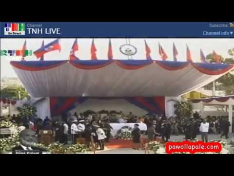 Samedi 11 Mars 2017 - Cérémonie de funérailles nationales de l'ancien Président René Préval / LIVE