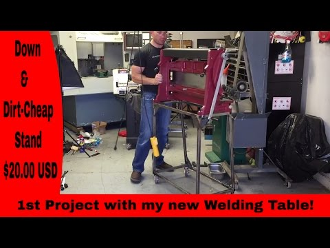 DIY Stand for Harbor Freight 3 in 1 Press brake, shear,&  slip roll - Unorthodox Fabrication