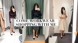 COME WORKWEAR SHOPPING WITH ME - Office Wardrobe Basics | Mademoiselle