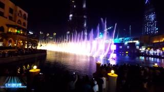 burj khallifa/dubai mall fountain show 2015