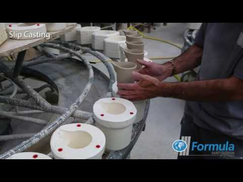 Saint-Gobain Formula, Ceramic Tableware Manufacture – Slip Casting and Jiggering