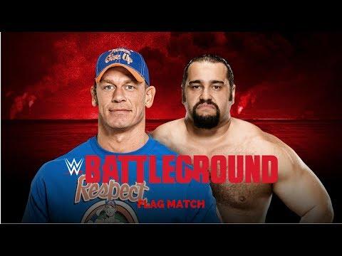 WWE Battleground 2017: John Cena vs. Rusev