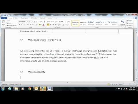 Business Management Uber Example Including Operations Management