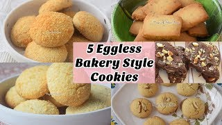 5 Eggless Bakery Style Cookies - Homemade Perfect Biscuits - Priya R - Magic of Indian Rasoi