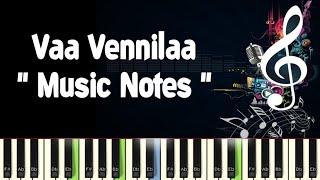 Vaa Vennilaa /Mella Thiranthadhu Kadhavu /Piano Notes /Midi File /Karaoke