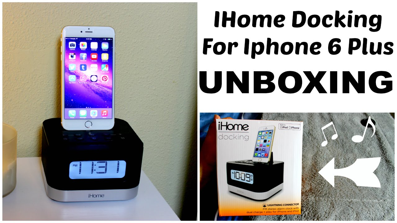 unboxing ihome docking speaker alarm clock for iphone 6 plus ipod
