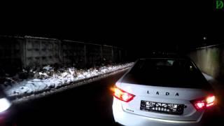 Lada Vesta \ Ночной обзор Лада Веста (4k, UHD)