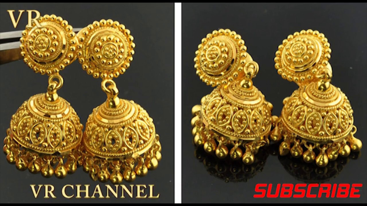 Latest Gold Earrings Designs Gold Jhumka Designs Photos
