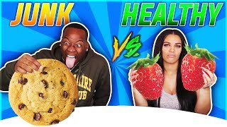 Download HEALTHY VS JUNK FOOD CHALLENGE! Mp3 and Videos