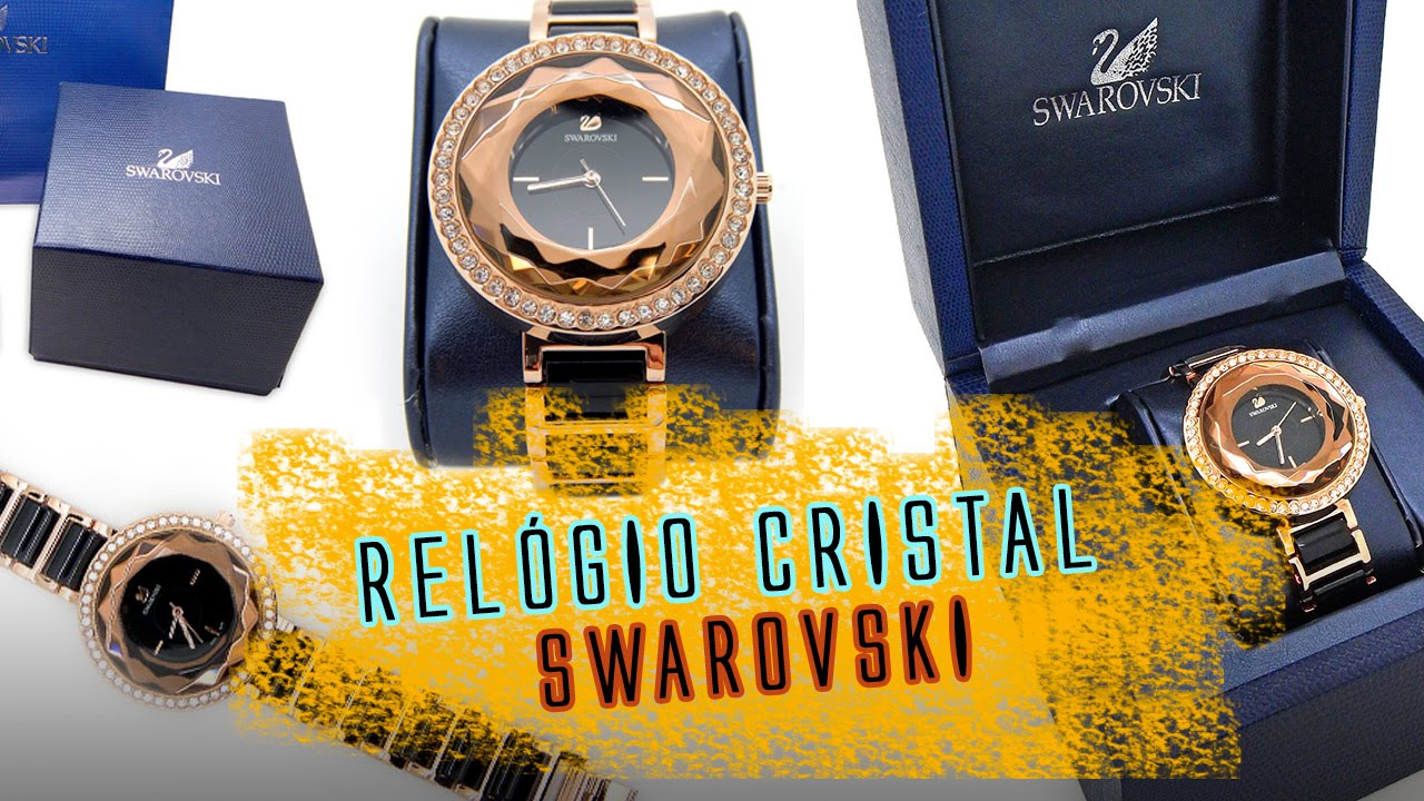 1ab8b2b23dc Relógio Swarovski Feminino Luxo - Review - YouTube