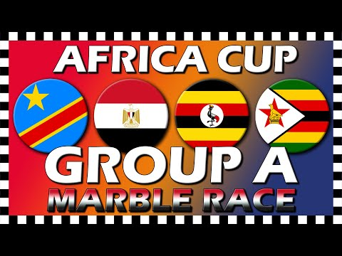 Africa Cup of Nations 2019 - Group A - Marble Race - Algodoo