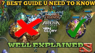 7 THINGS PRO's DOING AND NOOB DON'T | ALL U NEED TO KNOW | MOBILE LEGENDS