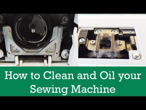 HOW TO CLEAN AND OIL YOUR SEWING MACHINE YouTube Interesting How To Clean And Oil A Sewing Machine