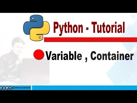 11 - Python Tutorial |how to use  Variable,  Container | Hindi thumbnail