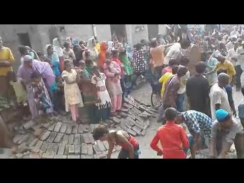 Muharram julus and dhol in UP village. मुहर्रम के जुलूस में ढोल का नज़ारा जरवल रोड यूपी इंडिया।