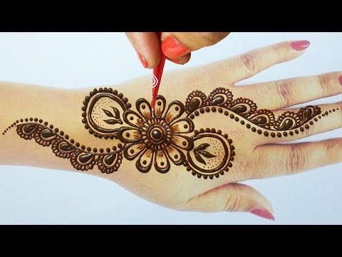 ये मेहँदी ट्रिक से आप भी मेहँदी एक्सपर्ट बन जायेंगे ||Arabic Henna Mehndi for Backhand|Simple Mehndi