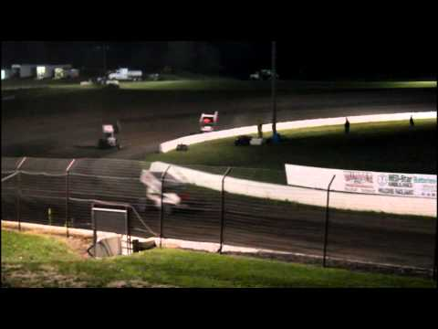 7/4/15 I-90 Speedway MSTS Sprint Car Feature