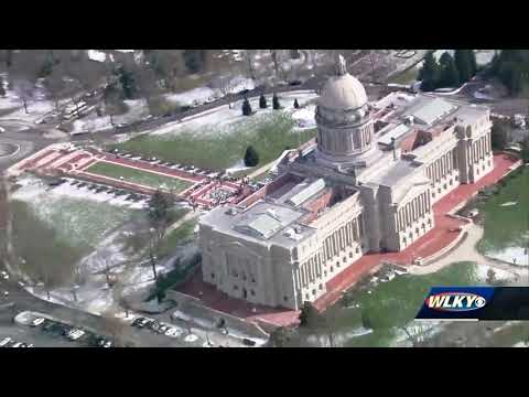 AERIALS: Marshall County High School students attend school safety rally in Frankfort
