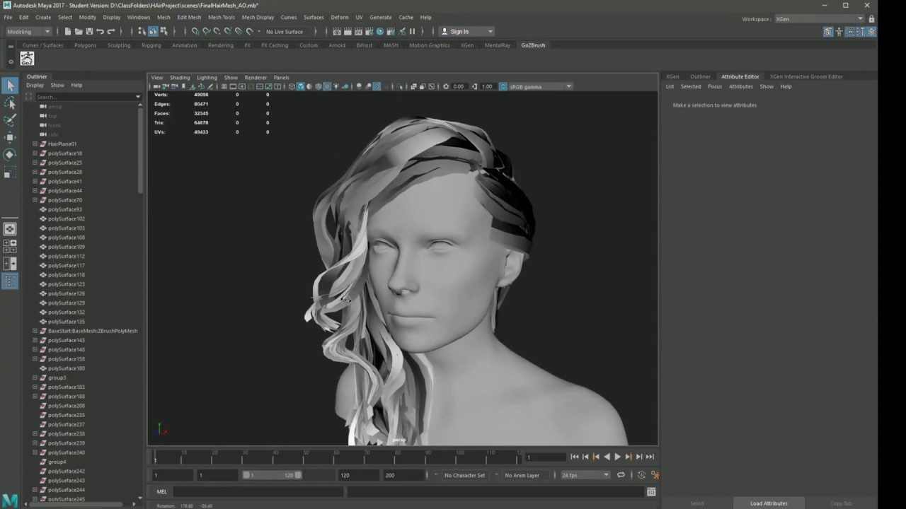baking ambient occlusion hair