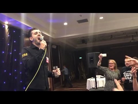 Snooker World Champion Mark Selby Celebrates With Karaoke