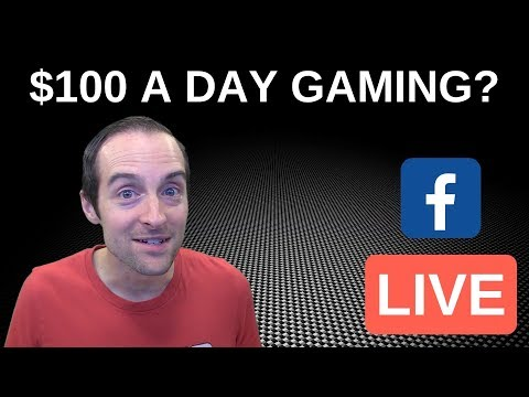 $100 A Day Gaming Live on Facebook at FB GG! - 동영상