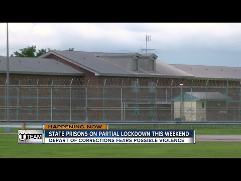 State prisons on partial lock down this weekend