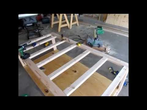 DIY Day Bed Part 1 - Rough Frame and Design - YouTube