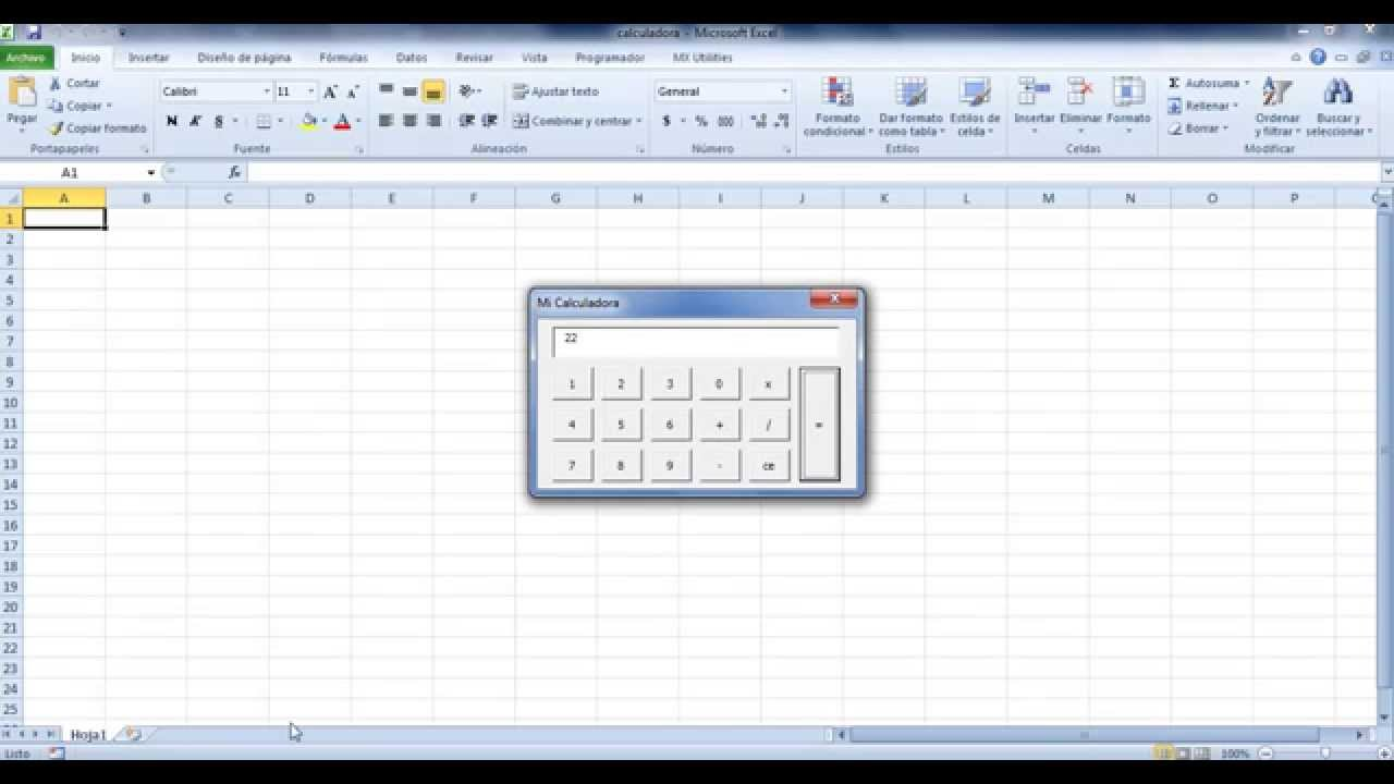 Calculadora En Vba Excel Pt 3