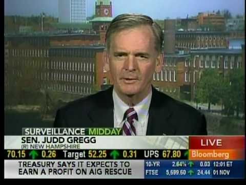 Senator Gregg appears on Bloomberg Television's Surveillance Midday with Tom Keene