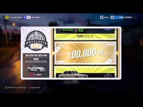 Forza Horizon 3 - VIP Wheelspin (Wheel spins) VIP - Ultimate Edition 10+ Spins Awesome Credit Prizes