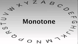 SAT Vocabulary Words and Definitions — Monotone